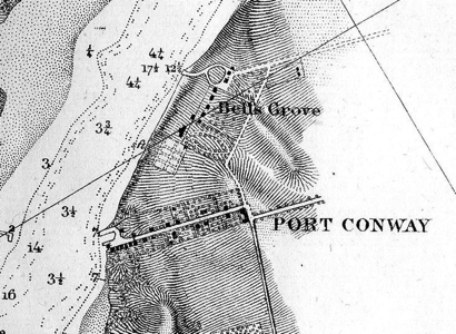 1856 Map – Note the Slave Quarters