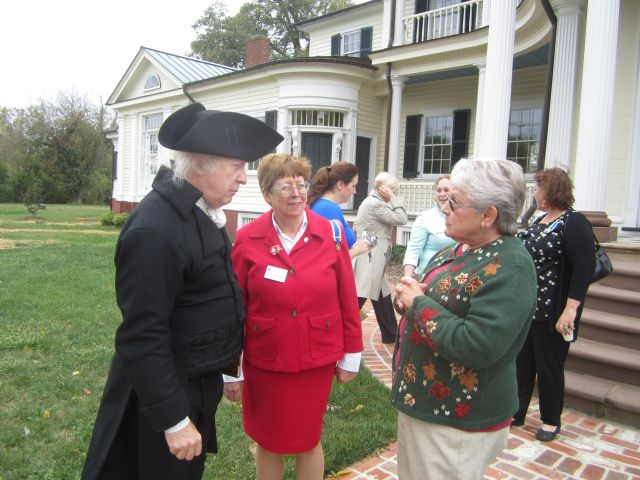 Presidet James Madison visits Belle Grove Plantation and gives a presentation to the Daughters of the Revolution.