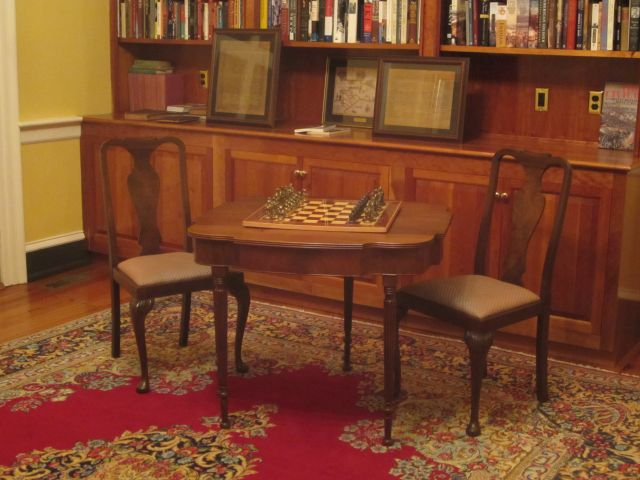 Chess Set donated to Belle Grove Plantation Bed and Breakfast  James Madison Library King George, Virginia